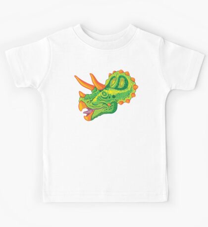 Triceratops (lime) Kids Tee