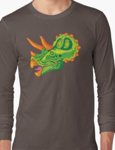 Triceratops (lime) Long Sleeve T-Shirt