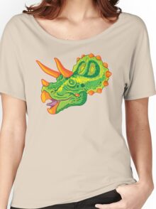 Triceratops (lime) Women's Relaxed Fit T-Shirt