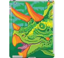 Triceratops (lime) iPad Case/Skin