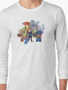 Stitch In Zootopia Long Sleeve T-Shirt