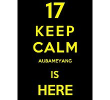 Keep calm aubameyang is here Photographic Print