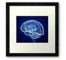 Blue Brain Framed Print