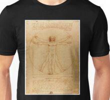 Vitruvian Man - Leonardo da Vinci Unisex T-Shirt
