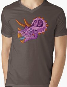 Triceratops (grape) Mens V-Neck T-Shirt
