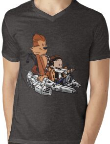 Chewie And Han Mens V-Neck T-Shirt