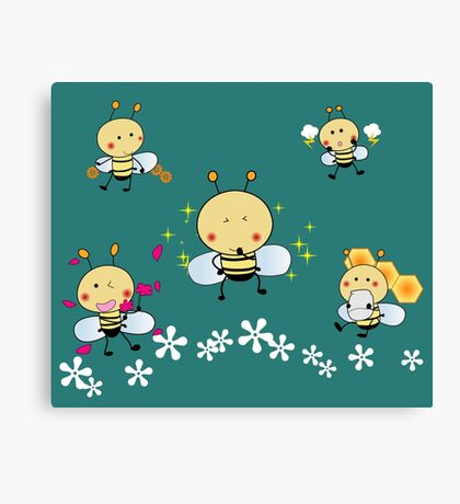 Smiling Bee Canvas Print