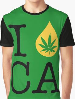 I Dab CA (California) Weed Graphic T-Shirt