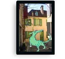 """""""Lost Green dog in France"""" Canvas Print"""
