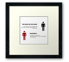 Daredevil Costumes Framed Print
