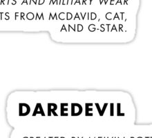 Daredevil Costumes Sticker