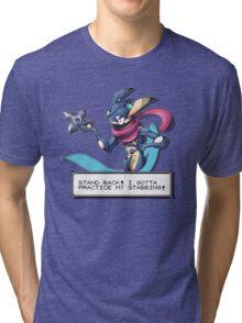 'Practice my Stabbing' Greninja Tri-blend T-Shirt
