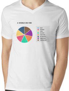A World On Fire Mens V-Neck T-Shirt