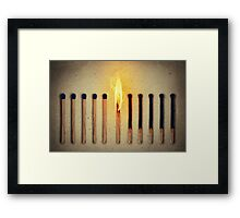 burning alone Framed Print