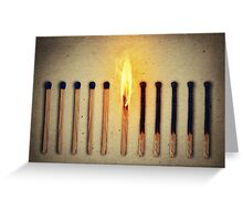 burning alone Greeting Card