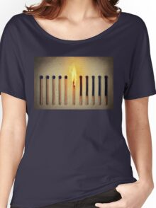 burning alone Women's Relaxed Fit T-Shirt