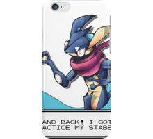'Practice my Stabbing' Greninja iPhone Case/Skin