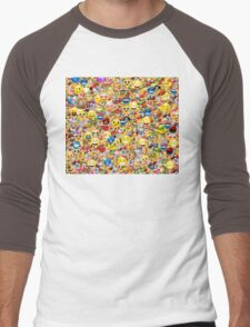 emoji Men's Baseball ¾ T-Shirt