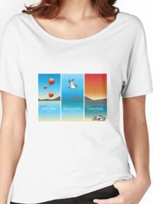 Pelican balloon graphic Women's Relaxed Fit T-Shirt