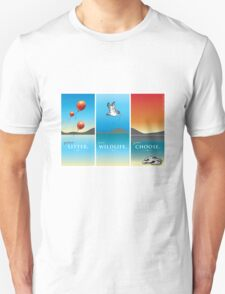 Pelican balloon graphic Unisex T-Shirt