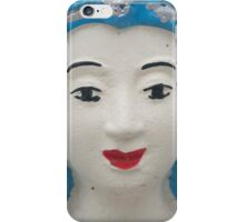 Cyan temple sculpture, Pai, Thailand iPhone Case/Skin