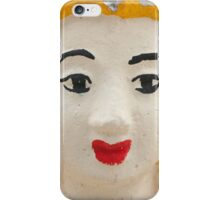 Yellow temple sculpture, Pai, Thailand iPhone Case/Skin