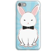 White Bunny with Bow iPhone Case/Skin