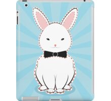 White Bunny with Bow iPad Case/Skin