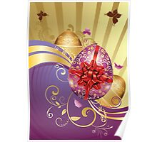 Decorative Easter Background 2 Poster