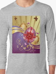Decorative Easter Background 2 Long Sleeve T-Shirt
