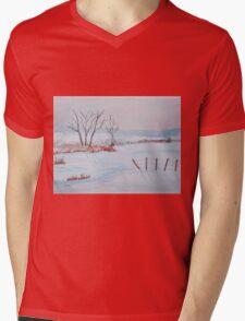 Winter scene Mens V-Neck T-Shirt