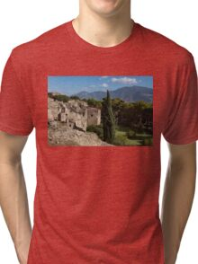 A Fine Italian Afternoon - Ancient Pompeii Ruins From a Verdant Park Tri-blend T-Shirt