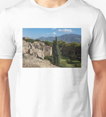 A Fine Italian Afternoon - Ancient Pompeii Ruins From a Verdant Park Unisex T-Shirt