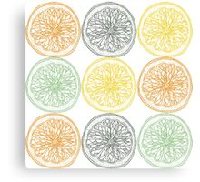 Colored fruit slices pattern Canvas Print
