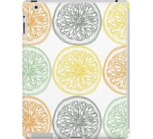 Colored fruit slices pattern iPad Case/Skin