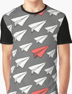 Flying paper planes pattern Graphic T-Shirt