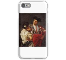Mary Cassatt, Drink with bullfighter, matador iPhone Case/Skin