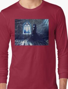 Haunted Interior and Ghost 2 Long Sleeve T-Shirt