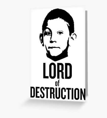 Dewey Malcolm in The Middle Lord of Destruction Greeting Card