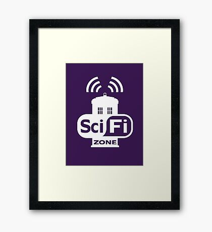 Sci-Fi ZONE White Framed Print