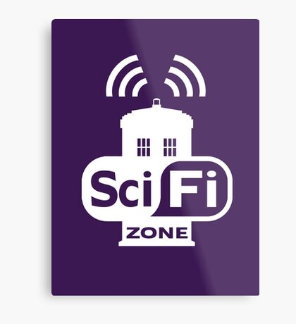 Sci-Fi ZONE White Metal Print
