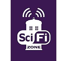 Sci-Fi ZONE White Photographic Print