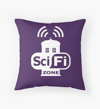 Sci-Fi ZONE White Throw Pillow
