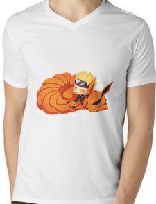 narutoandninetail Mens V-Neck T-Shirt