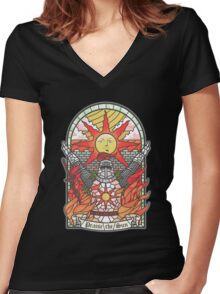 Church of the Sun Women's Fitted V-Neck T-Shirt
