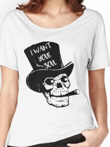 Skull - I want your soul Women's Relaxed Fit T-Shirt