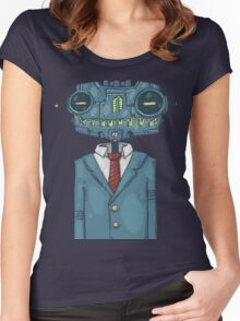 Robot Stylish Women's Fitted Scoop T-Shirt