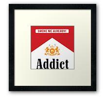 Smoke addict Framed Print