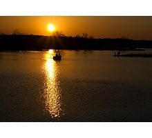 Sunset Fishermen Photographic Print