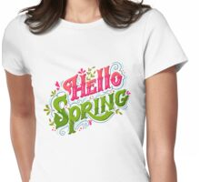 Hello spring Womens Fitted T-Shirt